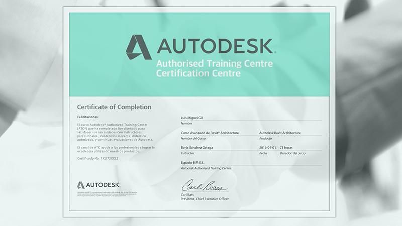 certificacion autodesk